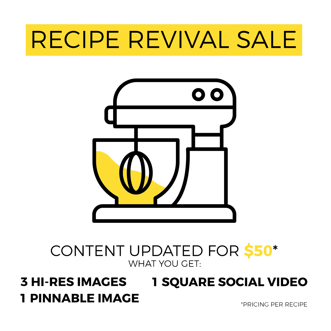 Recipe Content Revival SALE – $50